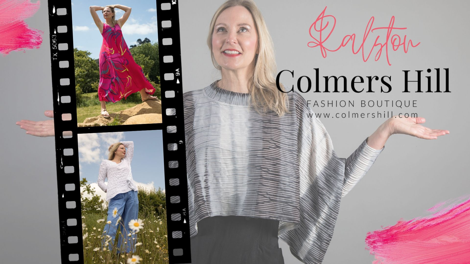 Linda Ralston talks about her clothing collection for Spring Summer 2020 and Colmers Hill Fashion Boutique shows off its collection as it re-opens its doors after lockdown