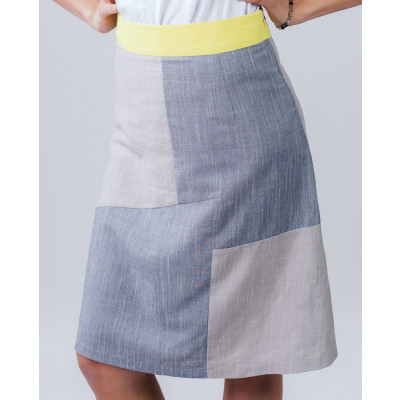 Lagom Modena Colour Block A-line Summer Skirt available on colmershill.com