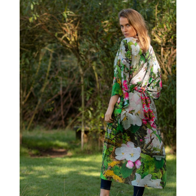 From My Mother's Garden Blossoming Robe with an apple green, pink and white colour scheme available on colmershill.com