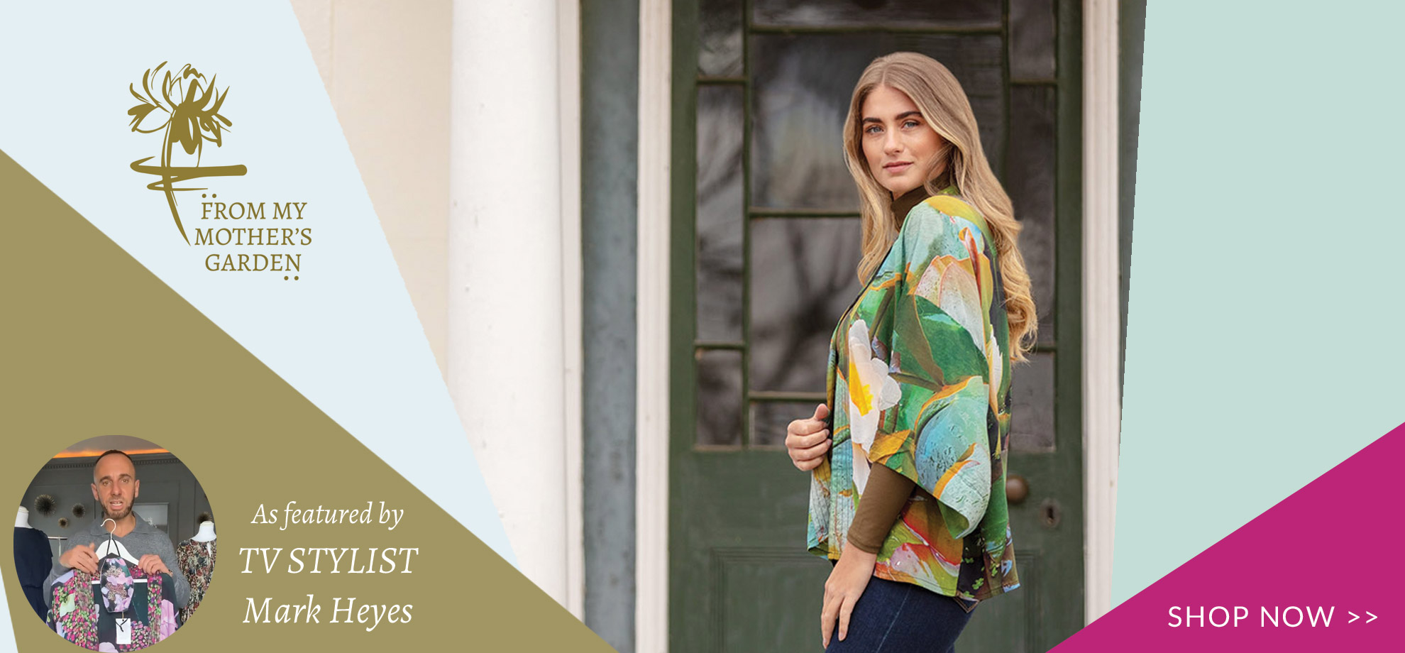 From My Mother's Garden fashion collection including kimonos and robes is now being stocked  by UK independent boutique colmershill.com