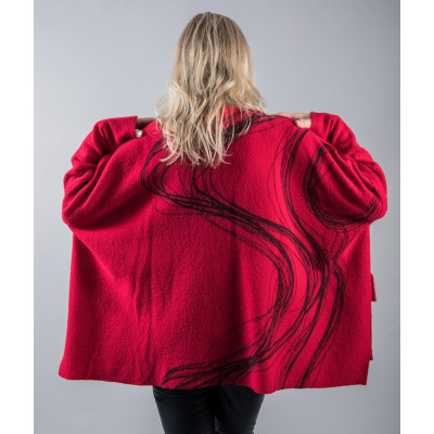 Ralston Diana Jacket in red with a swirl pattern available on colmershill.com