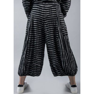 Ralston Amu Wide Trousers in black & white stripe available on colmershill.com