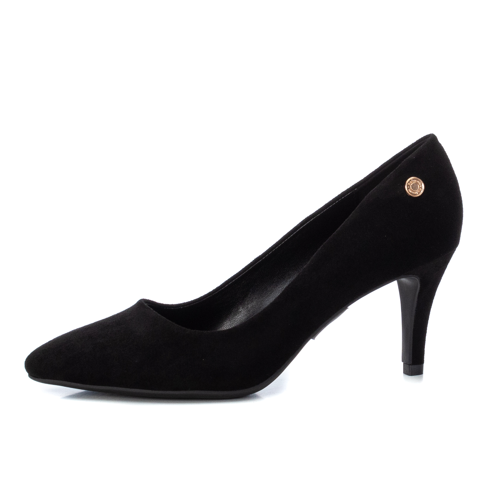 Refresh Court Shoes are a classic pair of heels in a faux black suede available on colmershill.com