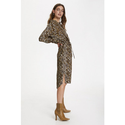 Soaked in Luxury Zaya Leopard Print Dress available on colmershill.com
