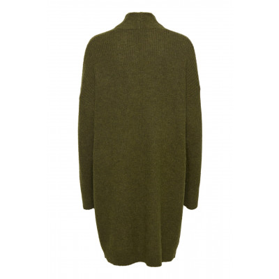 Soaked in Luxury Long Amaya Cardigan in black or Military Olive available on colmershill.com