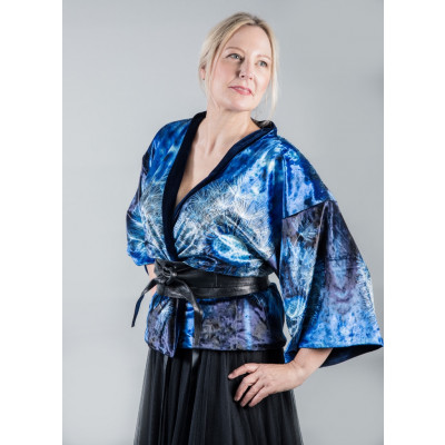 From My Mother's Garden Wishes Reversible Velvet Kimono is a luxurious jacket which is a great multiway piece, available from colmershill.com