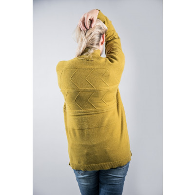 Foil Pounding the Pavements Sweater in grassy green with a chevron pattern and high neck available on colmershill.com