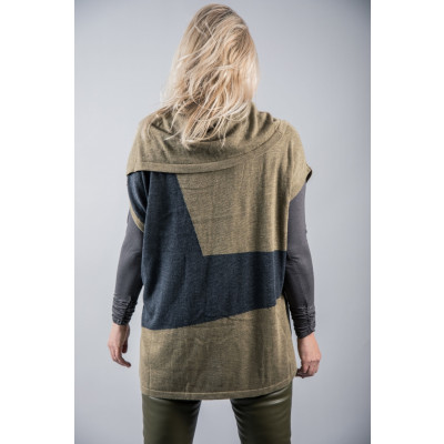Foil Snow Comparison Popover / Coverup in olive and charcoal available on colmershill.com