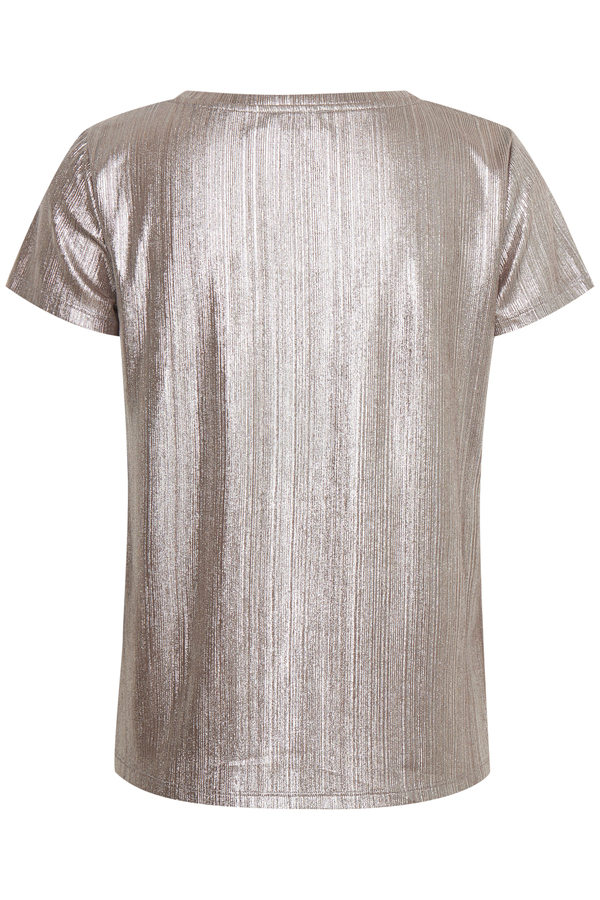 Soaked in Luxury Mieko metallic silver t-shirt top available on colmershill.com