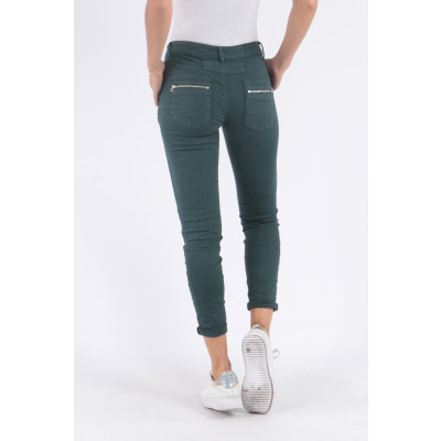 Melly & Co Jeans in a great autumnal teal colour available on colmershill.com
