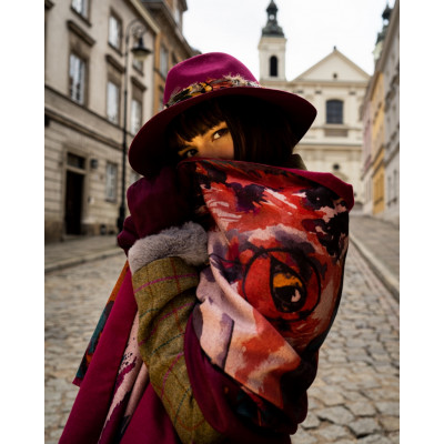 A beautiful wrap scarf from Powder with a Mr Fox print available on colmershill.com