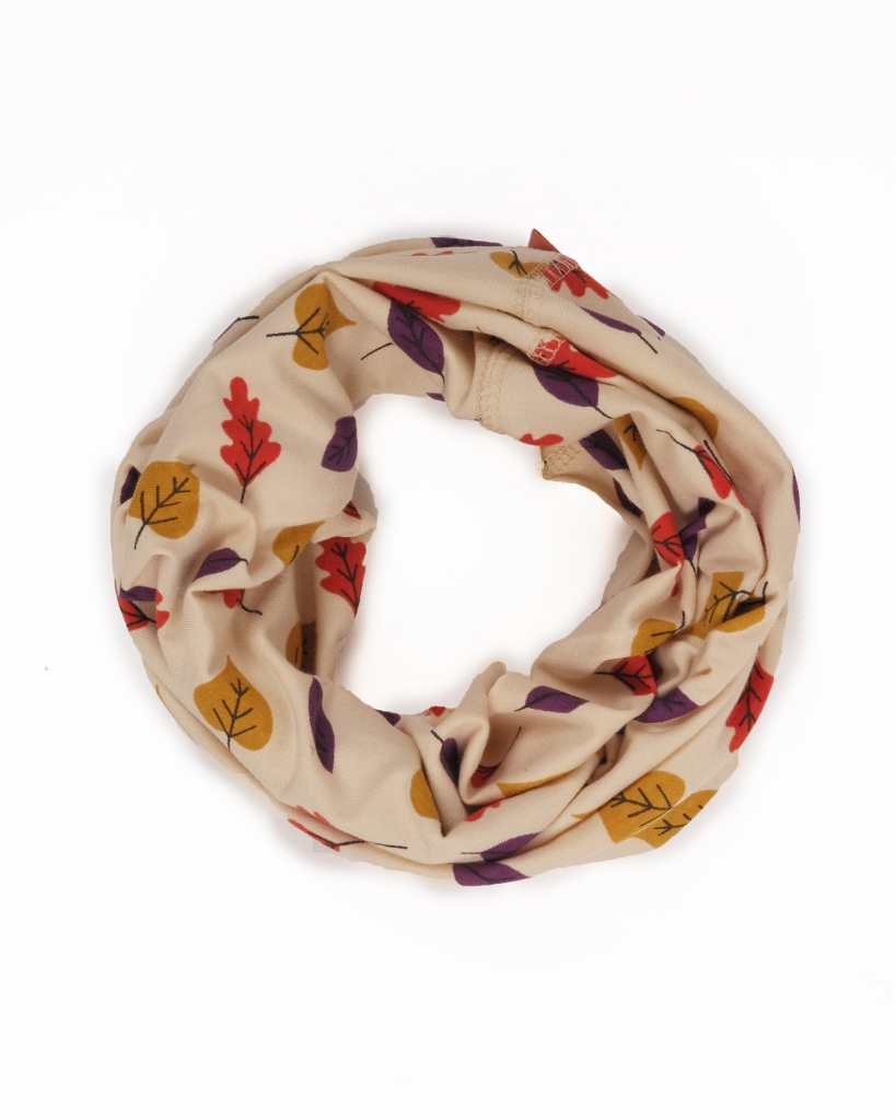 Powder Marvellous Multiway Band in a cream leaf print can be worn in 8 different ways including a face mask, hat, snood. It is available on colmershill.com