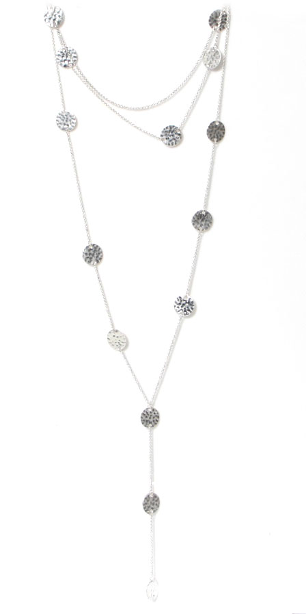 Envy silver long necklace available on colmershill.com