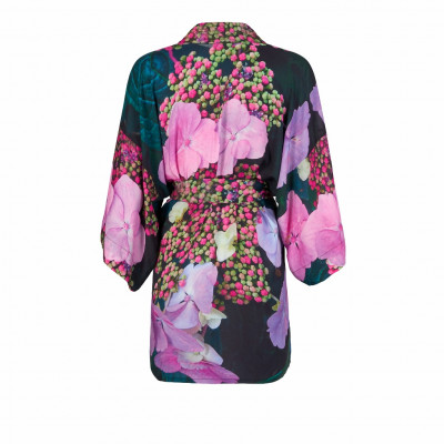 From My Mother's Garden Harmony mini robe with its exclusive hydrangea print is available on colmershill.com