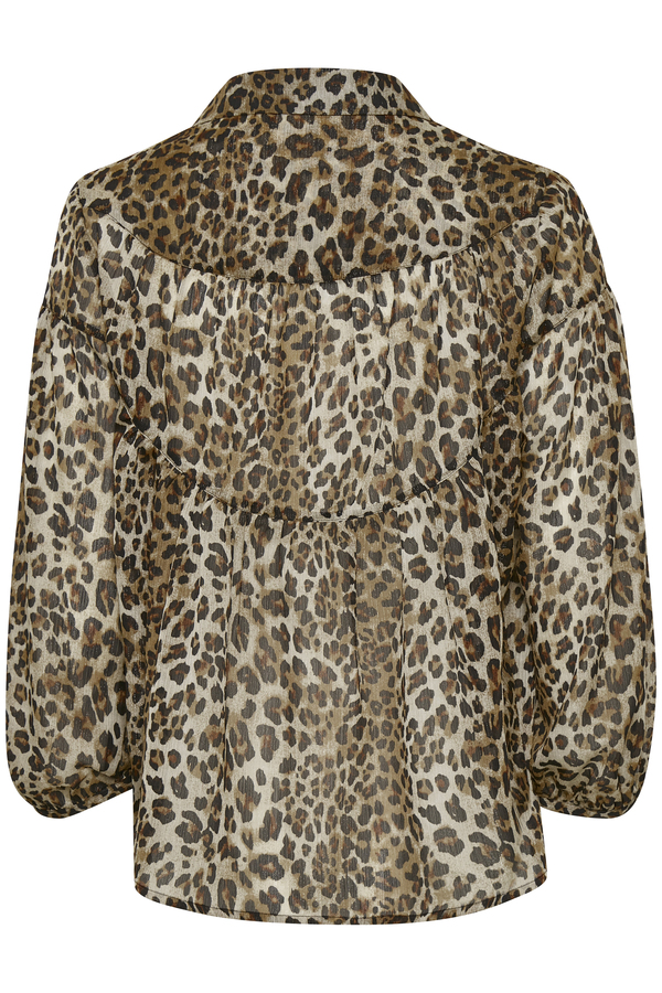 Soaked in Luxury Eteri Blouse in animal print is a semi sheer blouse available on colmershill.com