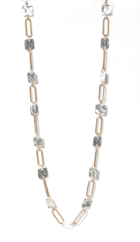 Envy long necklace in silver and gold available on colmershill.com
